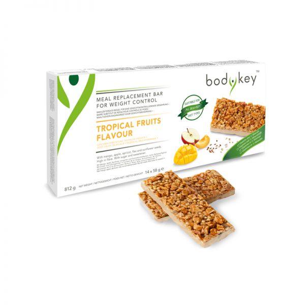 bodykey by NUTRILITE™ Mahlzeitersatz-Riegel – Tropische Früchte, Größe: 14 Riegel in jeder Packung